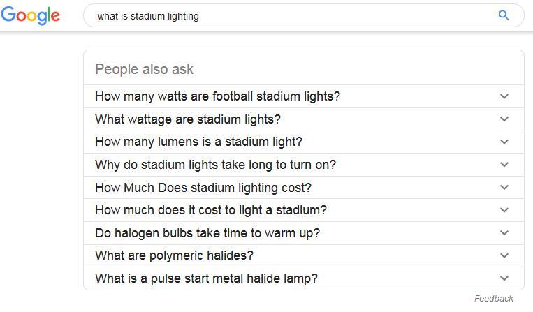What is stadium lighting